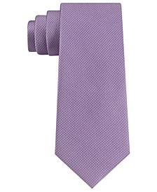 Men's Unsolid Solid Puppy Tooth Silk Tie