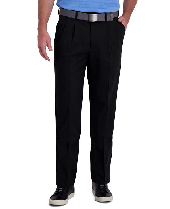 Haggar Cool Right Performance Flex Classic Fit Pleat Front Pant