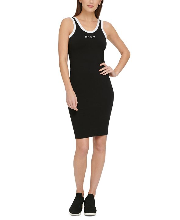 DKNY Sport Logo Ringer Tank Top Dress