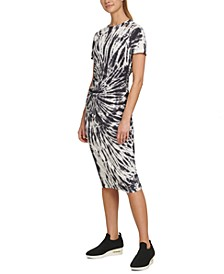 Sport Tie-Dyed Ruched T-Shirt Dress