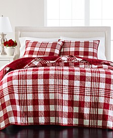 Buffalo Plaid Quilt and Sham Collection, Created for Macy's
