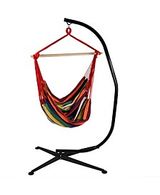 Jumbo Extra Large Hanging Hammock Chair Swing with C-Stand
