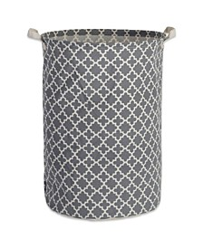 Polyethylene Coated Cotton Polyester Laundry Hamper Lattice Round