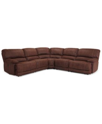 Jedd 5-pc Fabric Sectional Sofa with 2 Power Recliners  sc 1 st  Macyu0027s & Jedd Fabric Power Reclining Sectional Sofa Collection - Furniture ... islam-shia.org