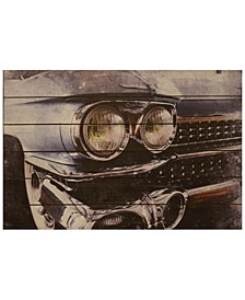 "Cadillac Arte de Legno Digital Print on Solid Wood Wall Art, 24"" x 36"" x 1.5"""