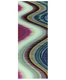 """Rumba Abstract 1 Frameless Free Floating Tempered Glass Panel Graphic Abstract Wall Art, 63"""" x 24"""" x 0.2"""""""