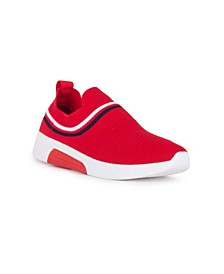 CONTROL Slip On Sneaker with Striping Detail