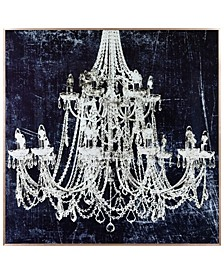"""12 Candle lights on Reverse Printed Art Glass and Anodized Aluminum Frame Wall Art, 32"""" x 32"""" x 1"""""""