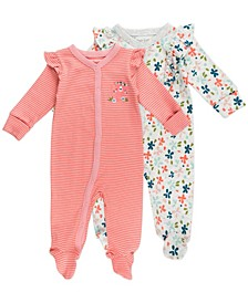 Baby Girl 2-Pack Sleepsuits