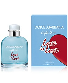 DOLCE&GABBANA Men's Light Blue Love Is Love Pour Homme Eau de Toilette, 4.2-oz.