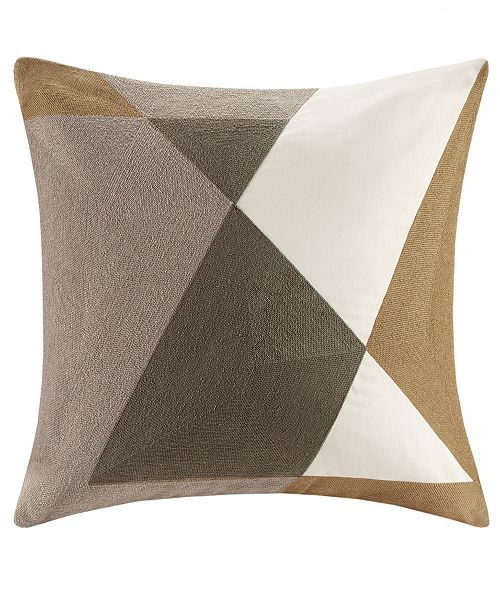 """Ink Ivy Gregory Cotton Embroidered Square Pillow: INK+IVY Aero 20"""" X 20"""" Embroidered Abstract Square Pillow"""