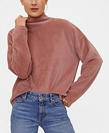 Ribbed Velvet Sweatshirt
