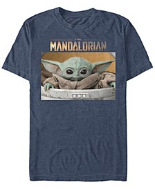 Men's Star Wars The Mandalorian The Child Big Eyes Portrait Logo Short Sleeve T-shirt