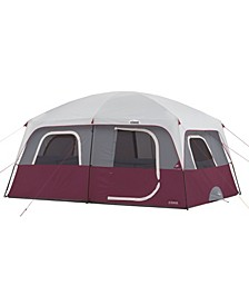 Straight Wall Foot 10 Person Cabin Tent with 2 Rooms Rainfly