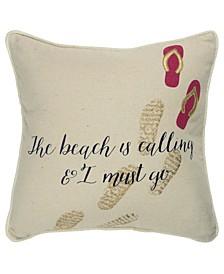 """Sentiment Decorative Pillow Cover, 20"""" x 20"""""""