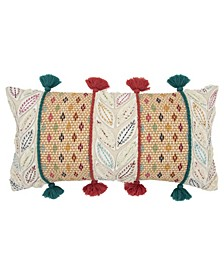 """Geometric Polyester Filled Decorative Pillow, 26"""" x 14"""""""