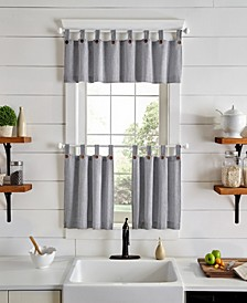 Tucker Ticking Stripe Tier and Valance Collection