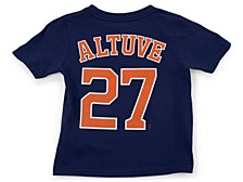 Houston Astros Kids Jose Altuve Name and Number Player T-Shirt