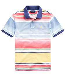 Big Boys Striped Cotton Mesh Polo Shirt