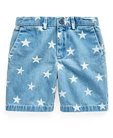 Little Boys Star-Print Denim Shorts