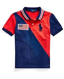 Toddler Boys Big Pony Cotton Mesh Polo Shirt