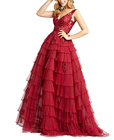 Tiered Ruffle Ball Gown