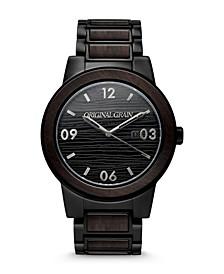 Men's Blackwood Black Stainless Steel Bracelet Watch 47mm