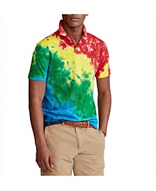 폴로 랄프로렌 Polo Ralph Lauren Mens Custom Slim Fit Tie-Dye Polo Shirt,Multi