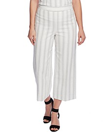 Pinstriped Cropped Pants