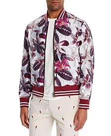 Men's Slim-Fit Lilia Reversible Bomber Jacket