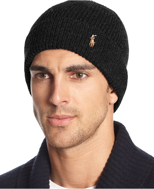 f4b414824ce Polo Ralph Lauren Signature Merino Cuffed Beanie   Reviews - Hats ...