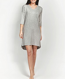 Ultra Soft Ribbed Knit Sleepshirt Nightgown, Online Only