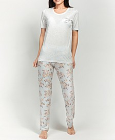 Ultra Soft Floral Short Sleeve Pajama Set