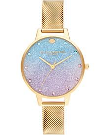 Women's Under The Sea Gold-Tone Stainless Steel Mesh Bracelet Watch 34mm