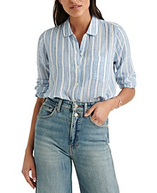 Striped Classic One-Pocket Shirt