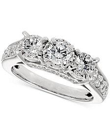 Diamond Trinity Ring (1-1/2 ct. t.w.) in 14k White Gold