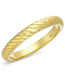 Signature Gold™ Bold Ribbed Slip-On Bangle in 14k Gold over Resin