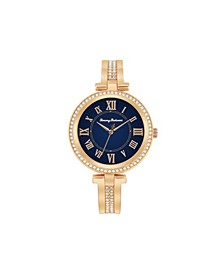 Women's Palm Beach Gold-Tone Stainless Steel Bangle Watch, 36mm