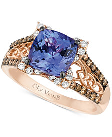 Le Vian Blueberry Tanzanite™ (2 ct. t.w.) and Diamond (3/8 ct. t.w.) Ring in 14k Strawberry® Rose Gold