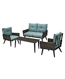 4 Piece Outdoor Patio Chair Set