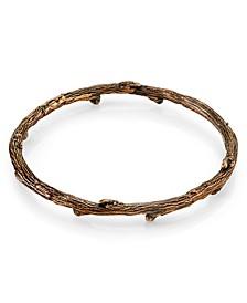 by 1928 Burnished Copper Tone Tree Bangle Bracelet