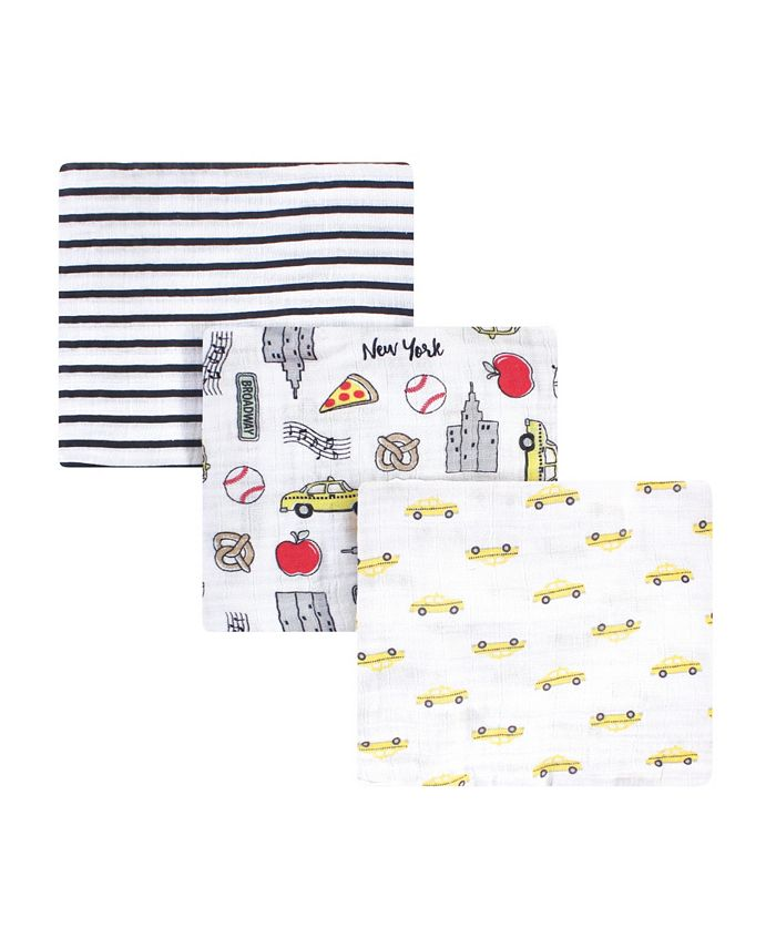 Hudson Baby - - Baby Boys and Girls Cotton Muslin Swaddle Blanket Set