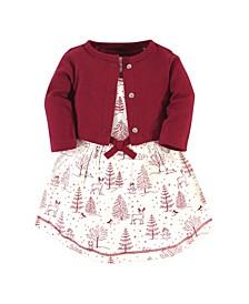 Toddler Girl Dress and Cardigan Set