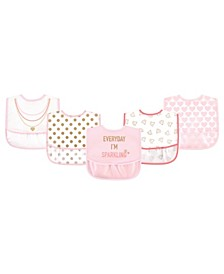 Baby Girls Water-resistant Bibs