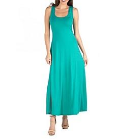 Slim Fit A-Line Sleeveless Maxi Dress