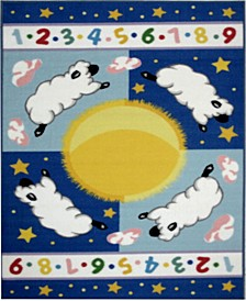 "Olive Kids Sleepy Sheep 19"" x 29"" Area Rug"