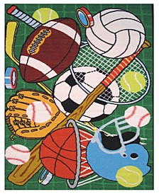 "Fun Time Let's Play 19"" x 29"" Area Rug"