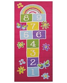 "Fun Time Garden Hopscotch 19"" x 29"" Area Rug"