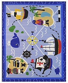 "Fun Time Buried Treasures 19"" x 29"" Area Rug"
