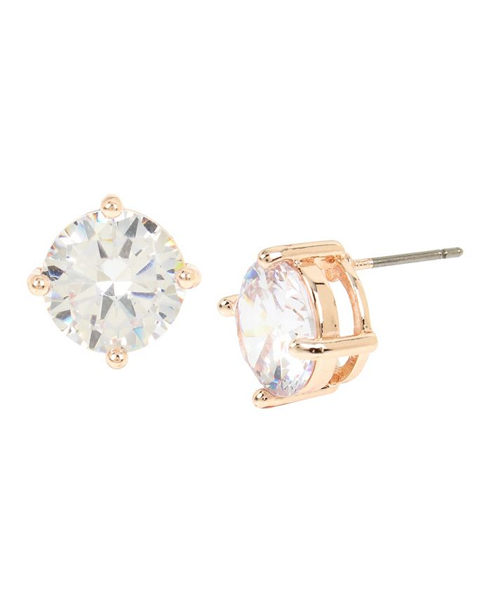 "Jessica Simpson - CZ Stone Stud Earrings, 0.4"""
